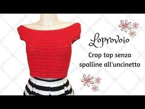 Photo of Crop top senza spalline all'uncinetto
