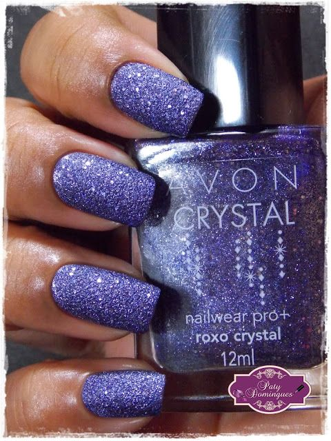 Roxo Crystal - Avon #avon #esmaltadasdapatydomingues #liquidsand ...