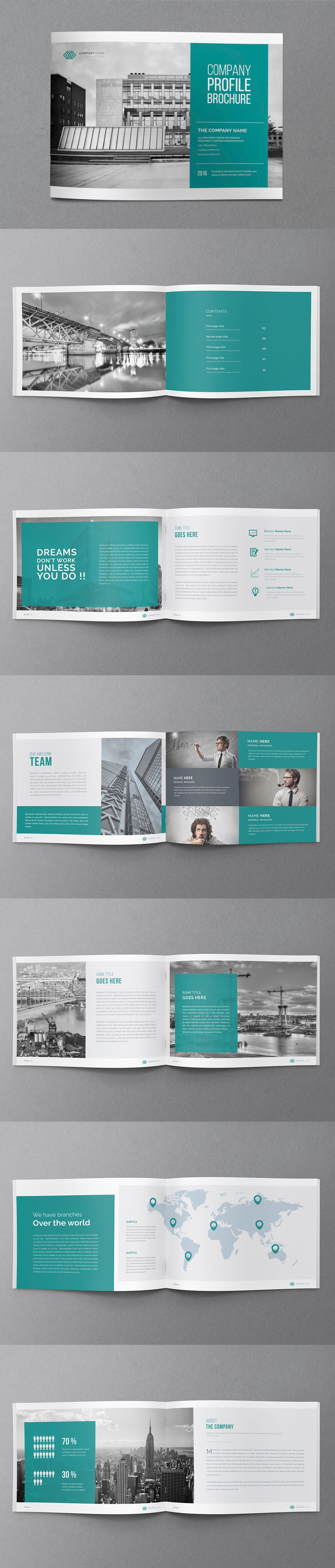 Annual Report Brochure Template InDesign INDD - 20 Pages A4 | BRtech ...
