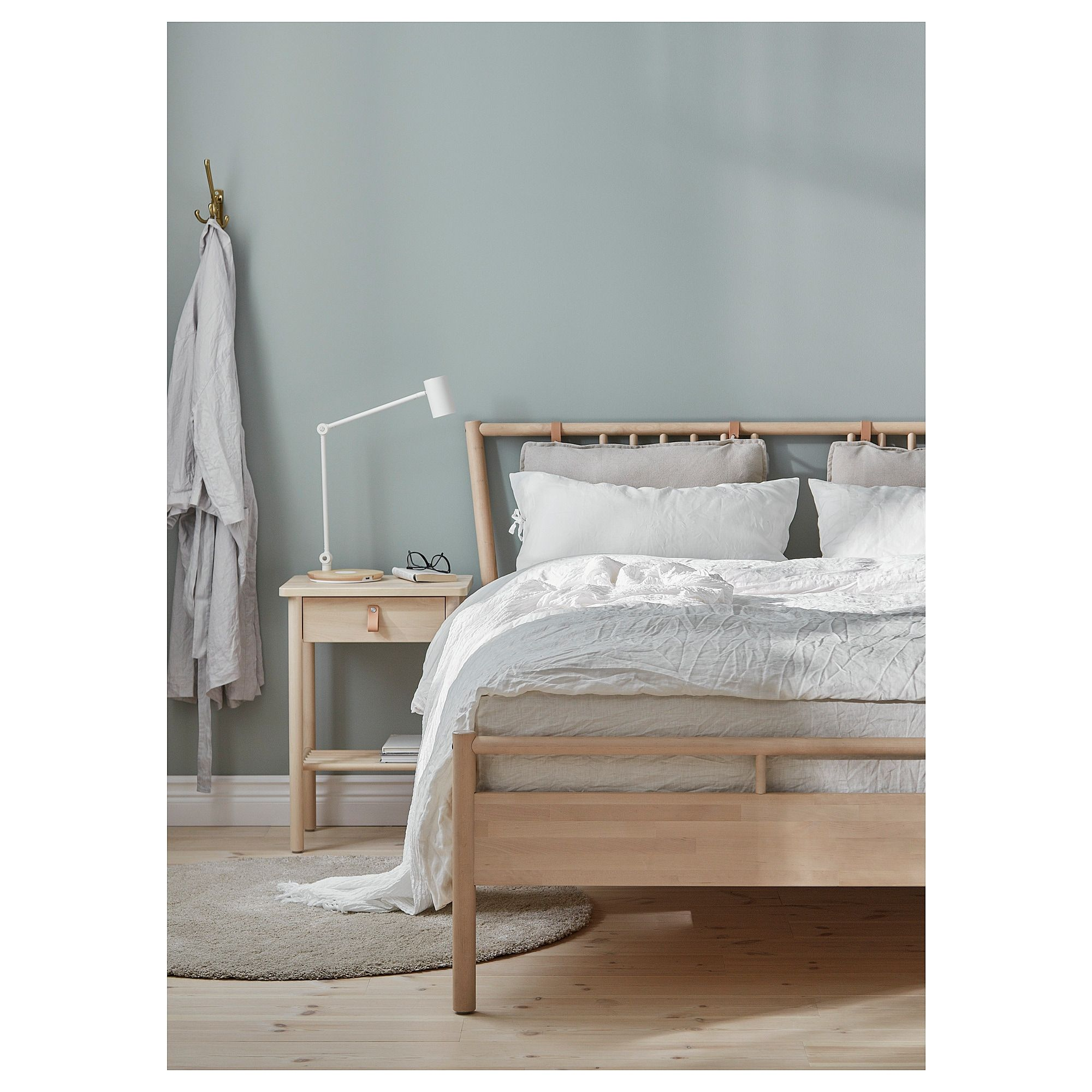 Ikea Us Furniture And Home Furnishings Bed Frame And Headboard Ikea Mandal Bed Queen Size Bed Frames