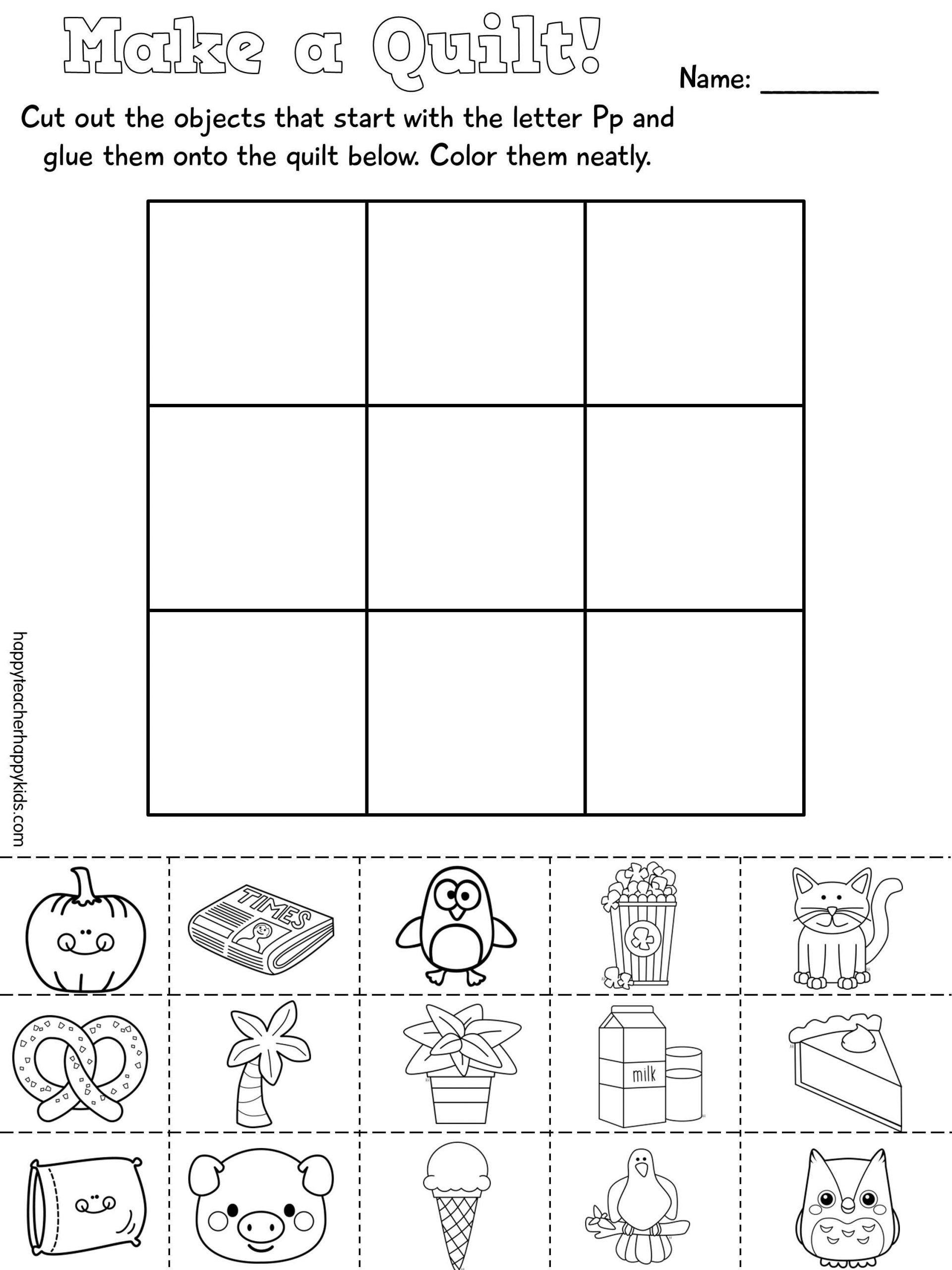 Letter P Worksheets For Kindergarten Letter P In