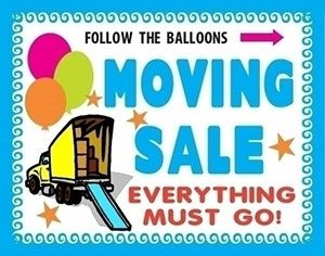 make a moving sale poster sale advertisement poster ideas yard