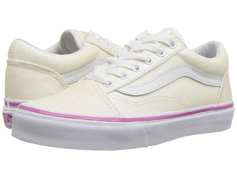09e625faeb45 Vans Kids Old Skool (Little Kid Big Kid) Girls Shoes (Glitter ...