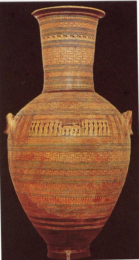 Maître de Dipylon, Amphore funéraire, vers 760, Athènes ...