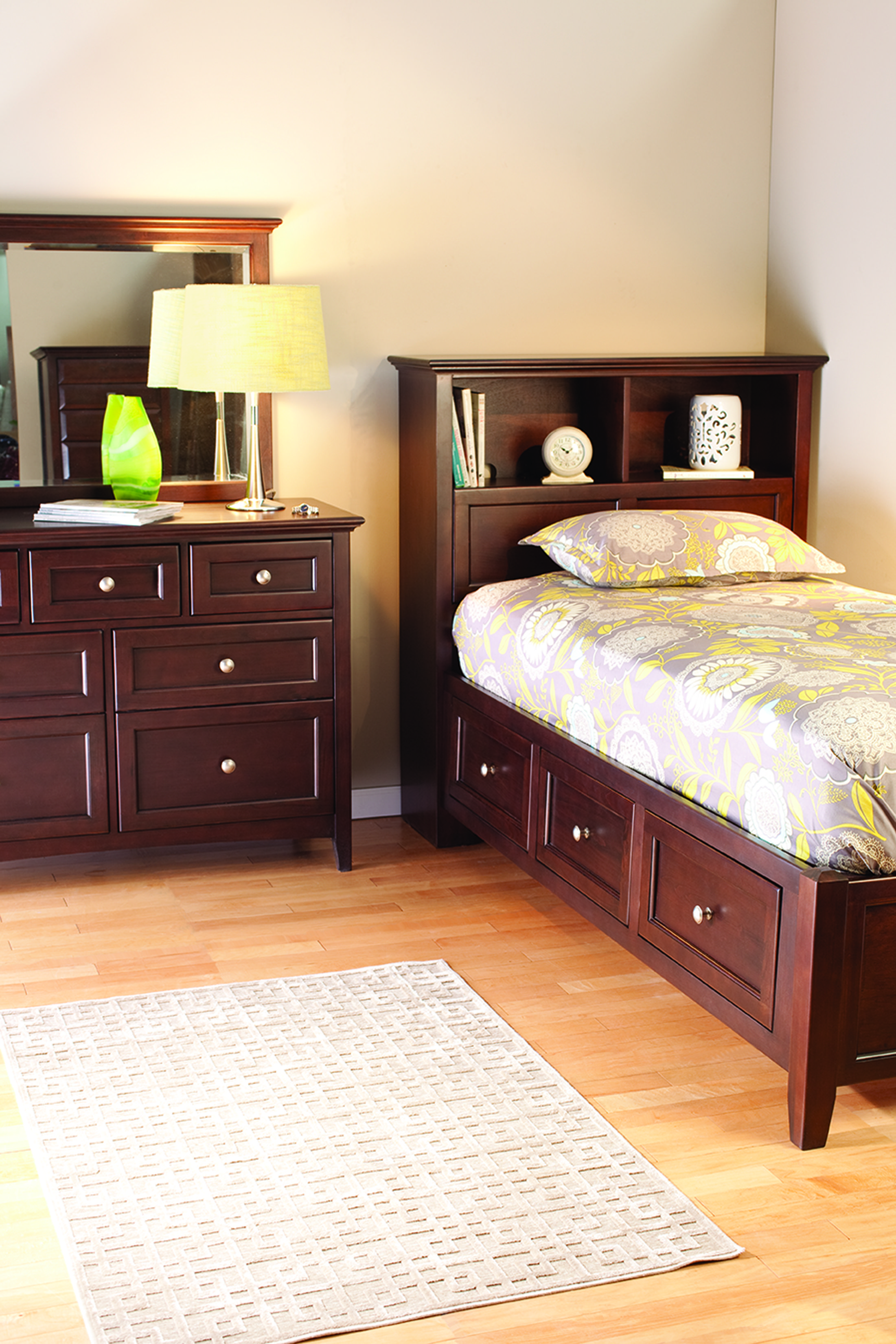 Finished Storage Bed Features include hidden storage