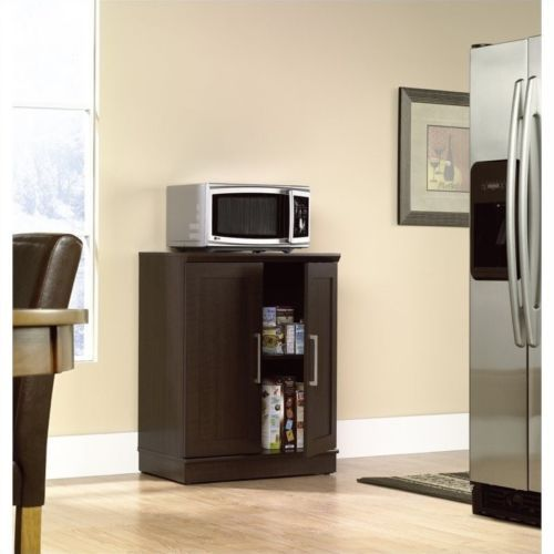 Superbe Sauder Homeplus Base Cabinet In Dakota Oak Transitional Microwave Cart U0026  Stand