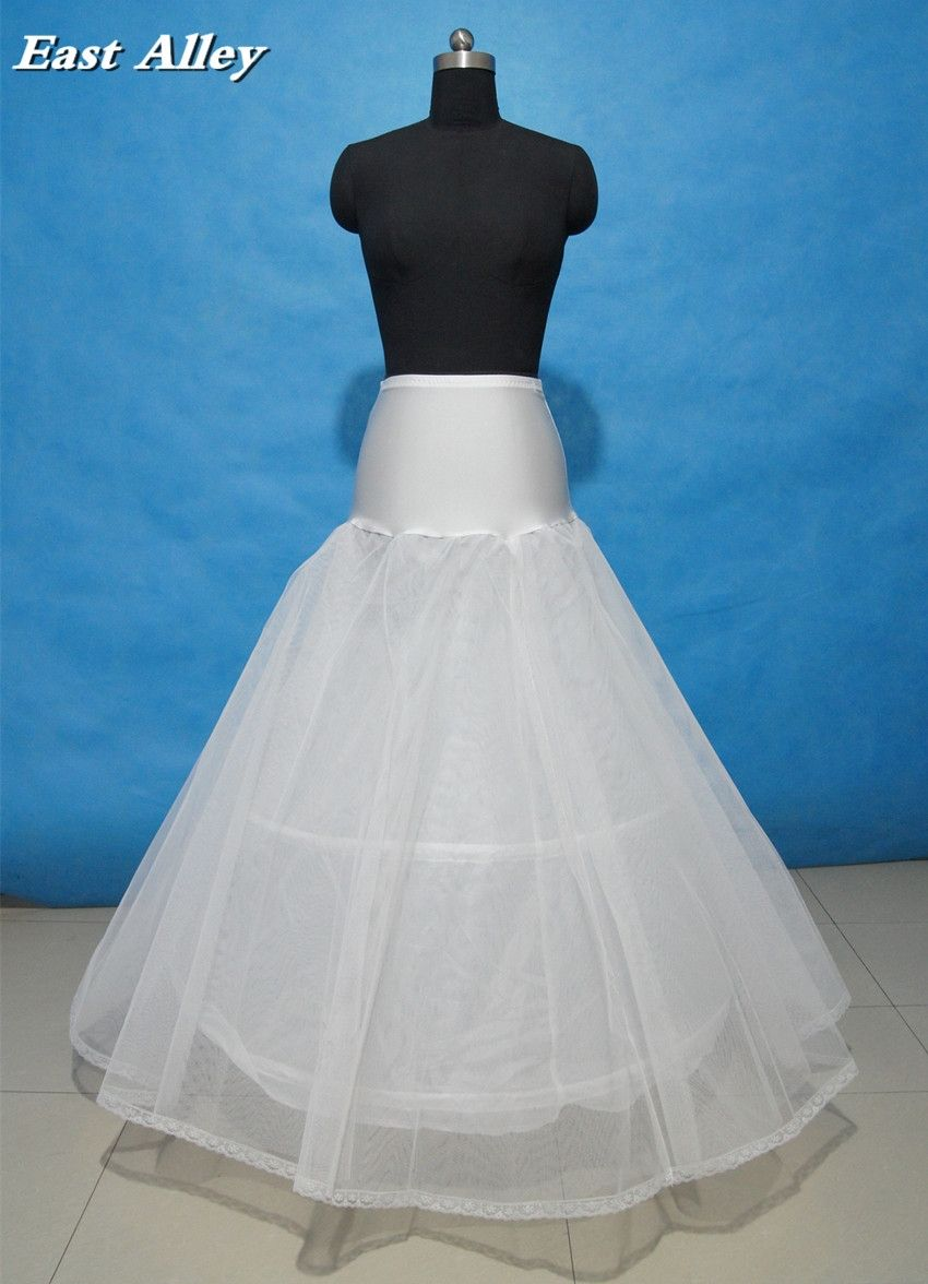 Wholesale 2 Hoop White Lace Edge A-line Lycra Wedding Gown Petticoat ...