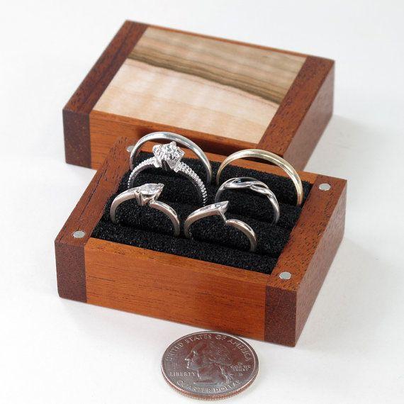 Multiple Ring Box, Large Ring Box, Mahogany and Maple | JM