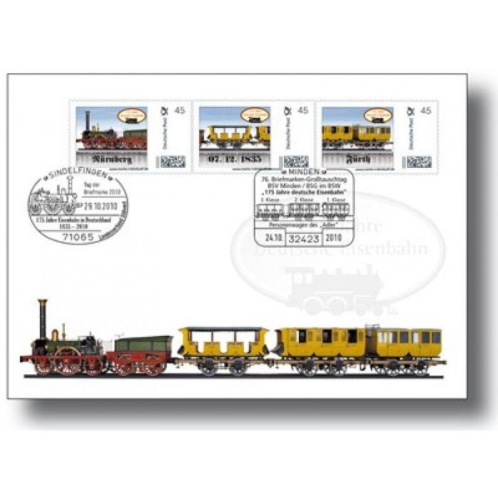 175 Jahre Eisenbahn, Erste Fahrt der