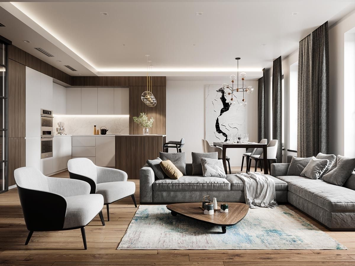 Grey Wood With Brass Accent Interior Space Remodelproj Interior Design Living Room Living Room Lighting Home Interior Design #small #living #room #lighting