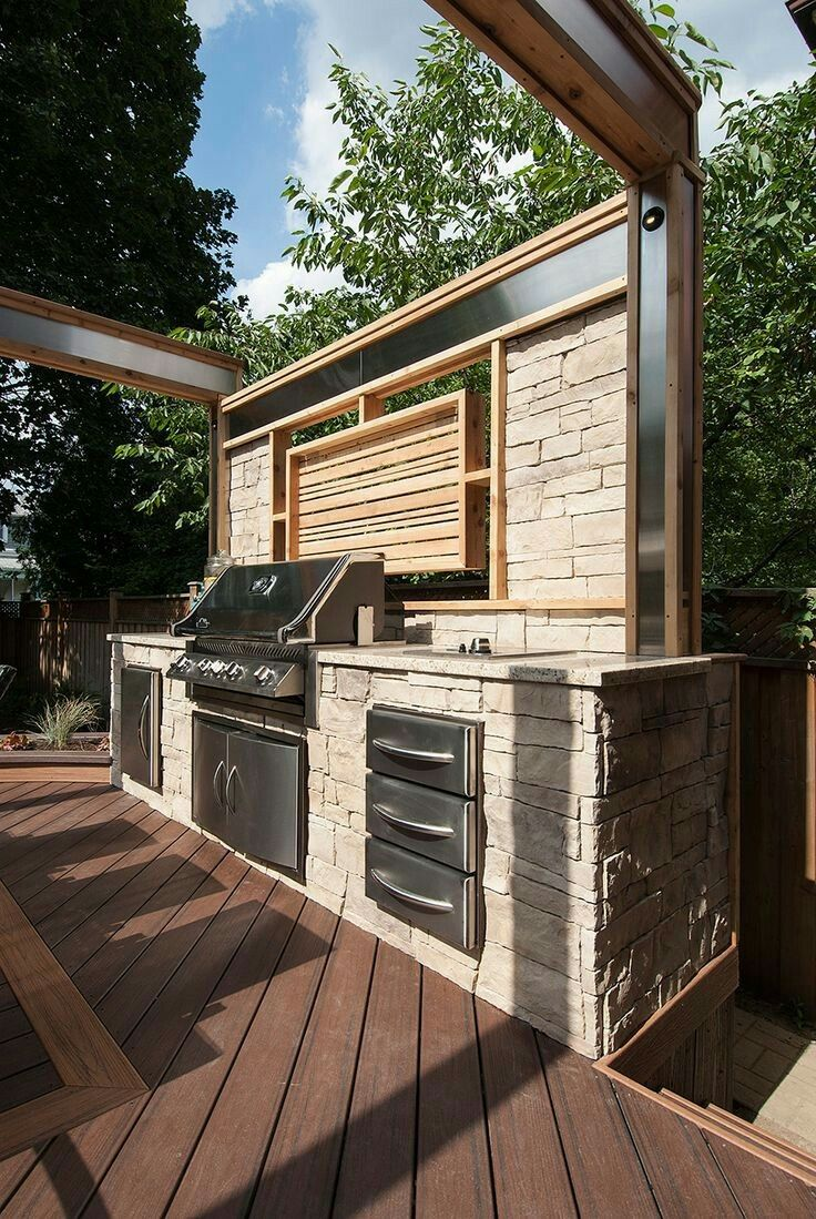 diagonal deck is nice with images outdoor bbq area outdoor kitchen design backyard on outdoor kitchen on deck id=27063
