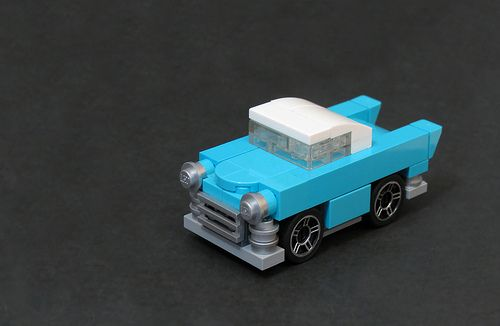 Build a cool cyan-colored cruisin' Cadillac [Instructions]