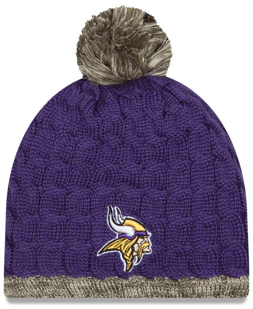 New Era Women S Minnesota Vikings Salute To Service Knit Hat Sports Fan Shop By Lids Men Macy S Knitted Hats New Era Minnesota Vikings