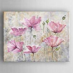 Pintura al leo pintada a colgar pintada a mano floral - Cuadros bonitos para salon ...