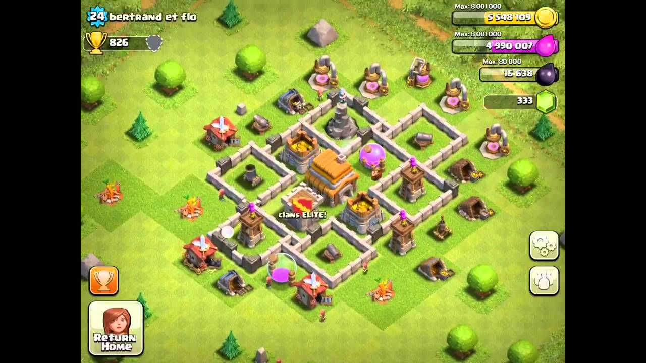 Best Defense Base For Town Hall Level 5 Clash Of Clans Defense Strategy Clash Of Clans Clash Of Clans Hack Clan