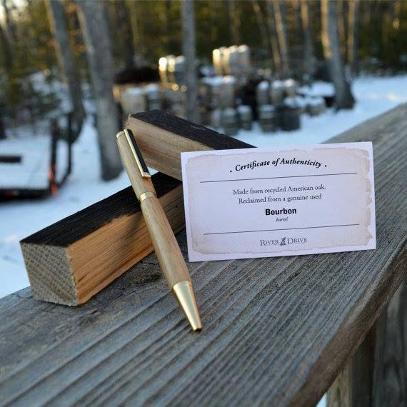 3 X American Oak Whiskey Barrel wood pen blanks
