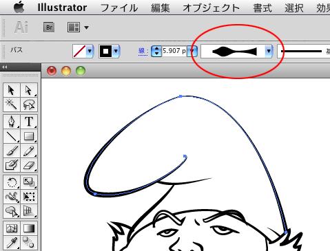 Illustratorでタッチのあるイラストを描く1 | technique | 브러쉬