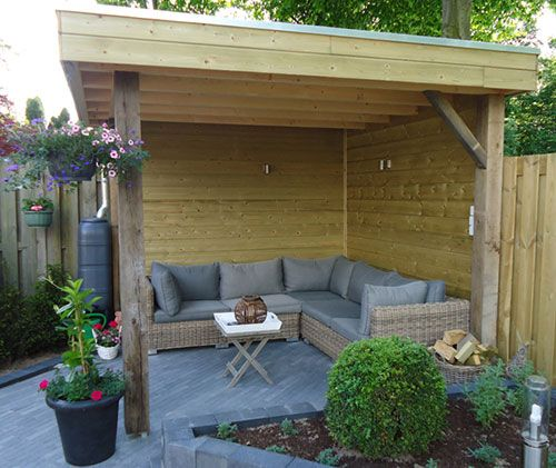 Afdak in de tuin leuke tuin idee n pinterest cabana - Outdoor patio ideeen ...