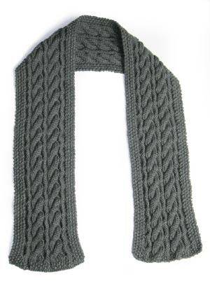 Reversible Cable Scarf 50368 Pattern By Lion Brand Yarn