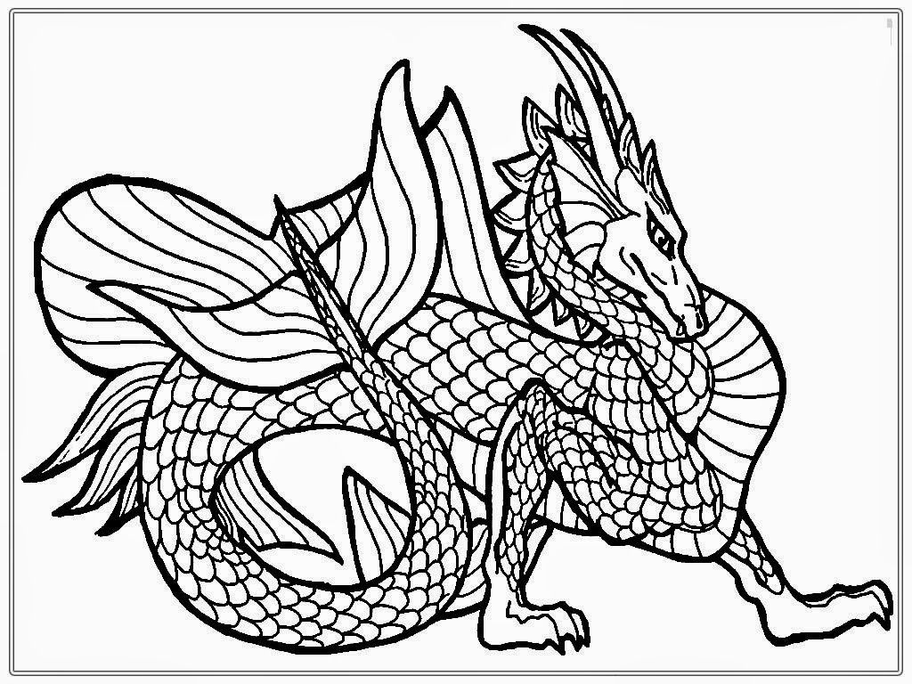 Chinese Dragon Adult Coloring Pages | Realistic Coloring Pages ...