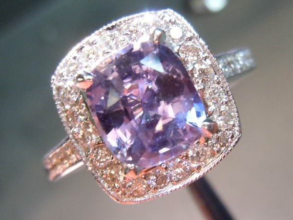 wonderful ring sapphire attachment gold engagement of oval purple rose rings lavender