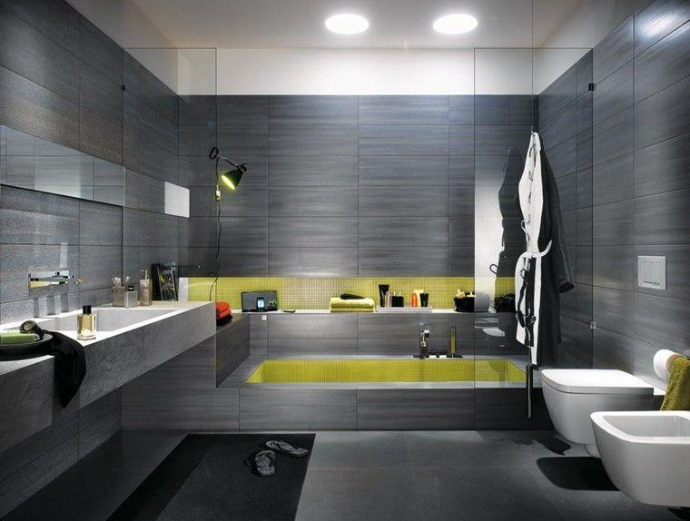 Azulejos para baños modernos - cien ideas geniales | Colores grises ...