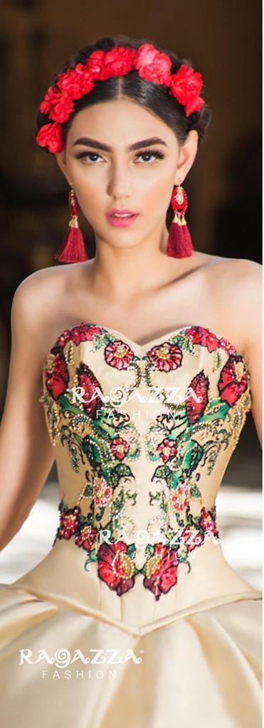 8ba6a480bf Virgin de Guadalupe Quinceanera Dress by Ragazza Fashion Style M11-111-Ragazza  Fashion-ABC Fashion