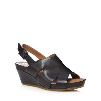 f36bf8971747 Clarks Black  Rusty Rizz  mid wedge heels
