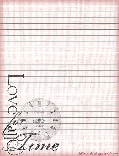 For All Time Lined Stationery Writing paper, Journal and Planners - free printable lined writing paper