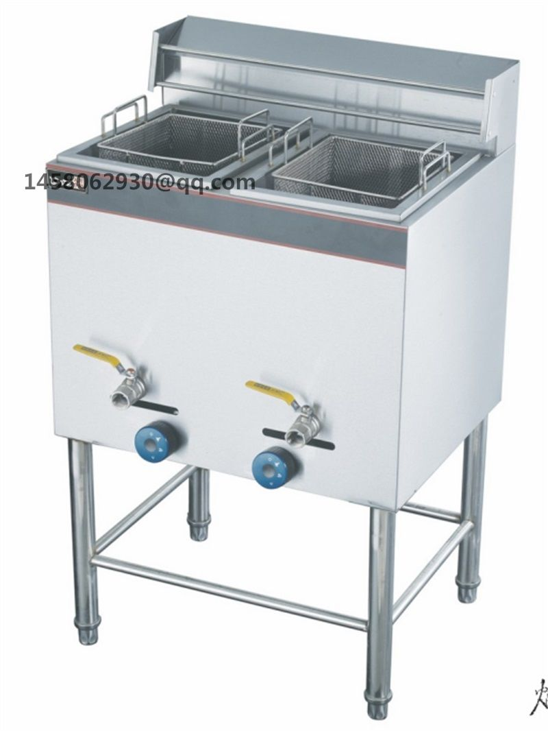 28L double tank double basket potato chips fryer/lpg gas deep fryer ...