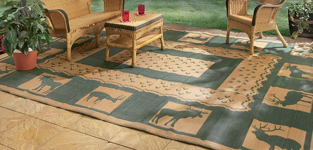 Rv Outdoor Mat Woodland Theme Decor Patio Floor Portable Folding Large Porch Firesidepatiomats Contemporary Outdoor Rugs Patio Patio Flooring Patio Rugs