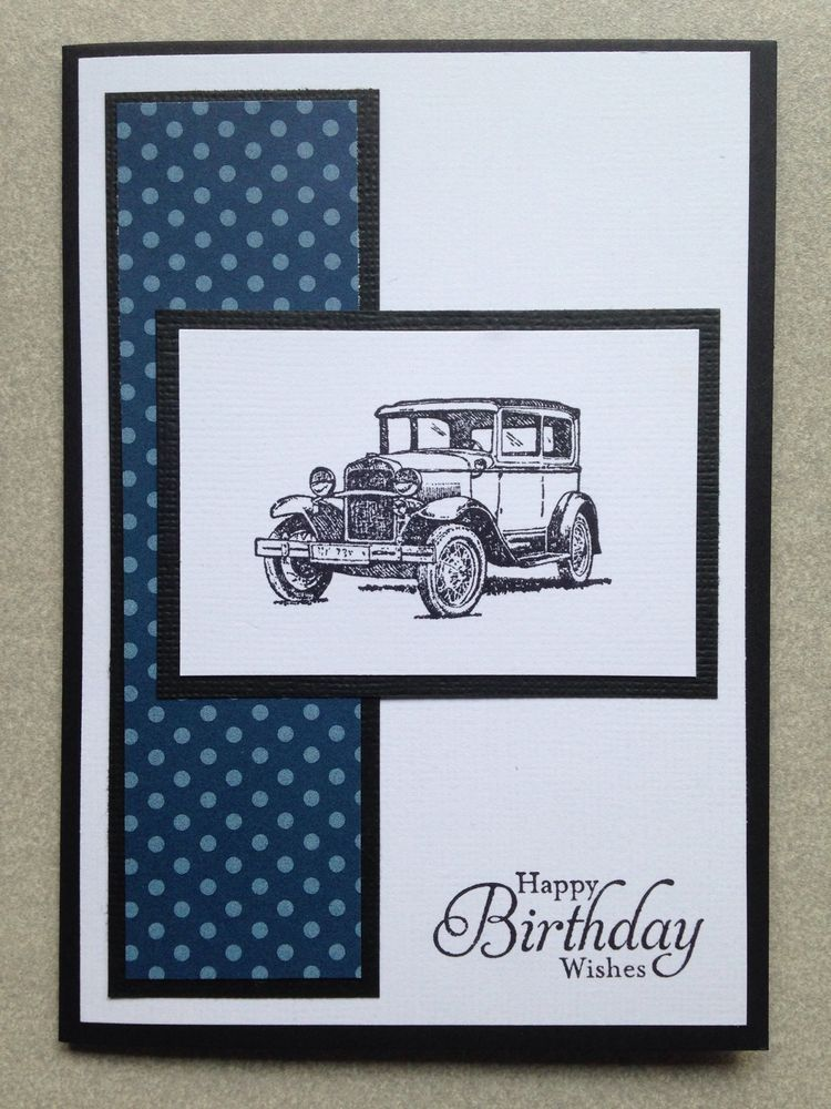 Handmade male birthday card stampin up men cards pinterest handmade male birthday card stampin up bookmarktalkfo Images