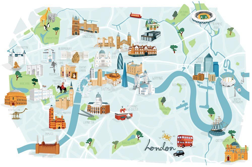 Map Centre London.Image Of London Map Print Map In 2019 London Map
