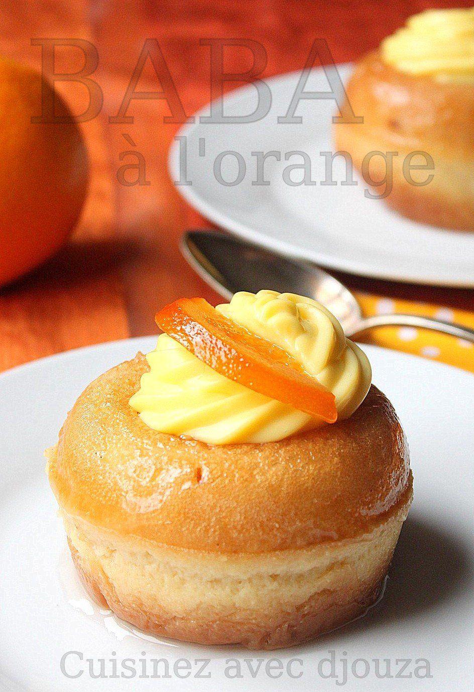 Baba au rhum ou mini savarin à l'orange sans alcool