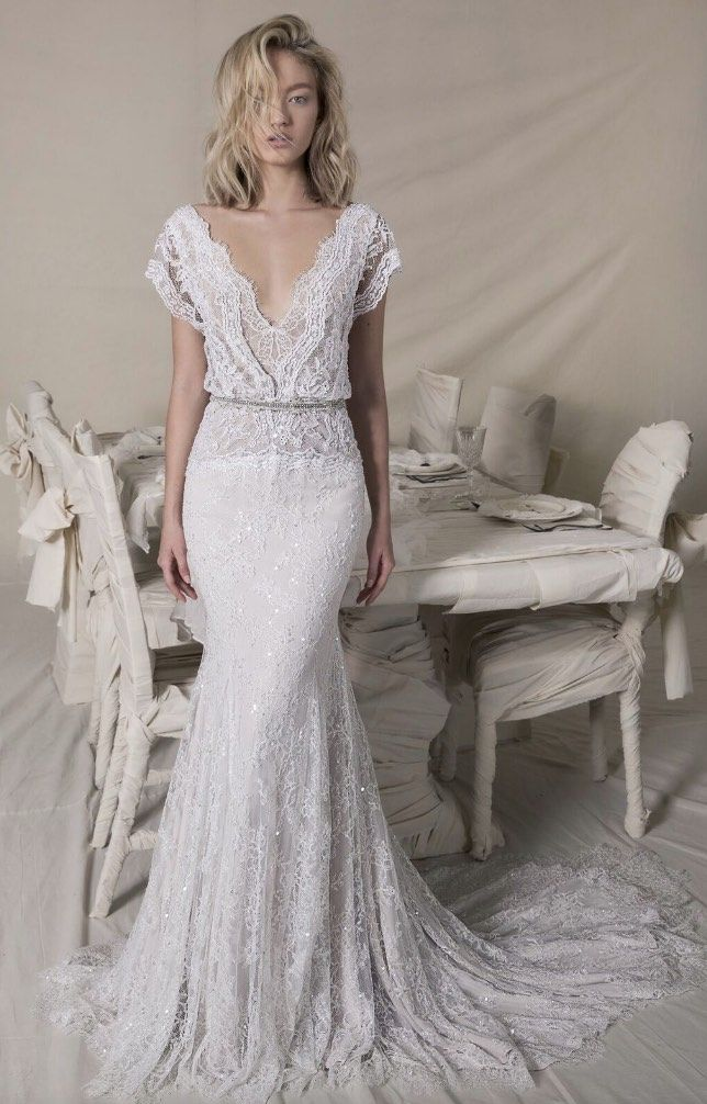 Our Favorite Lace Wedding Dresses with Fashion-Forward Design ...