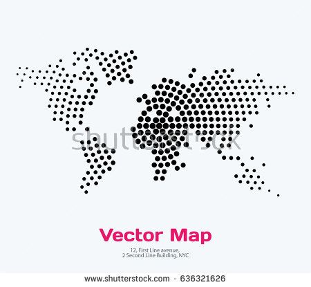 Stock vector vector world map template with round spots dots for stock vector vector world map template with round gumiabroncs Gallery