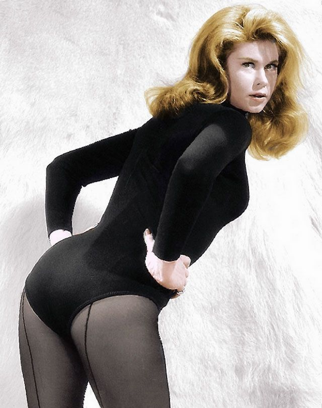 Elizabeth Montgomery - Black Leotard Against White Fur Wall 8x10 Color  Picture | Elizabeth montgomery, Celebrities female, Actresses