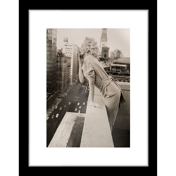 Buy getty images gallery marilyn monroe on roof framed print 57 x 50cm online at johnlewis com