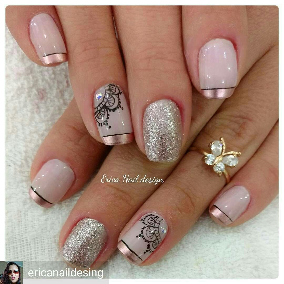 Uñas De Gel Decoradas Sencillas Uña Decorada Tattosus Pinterest Uña Decoradas