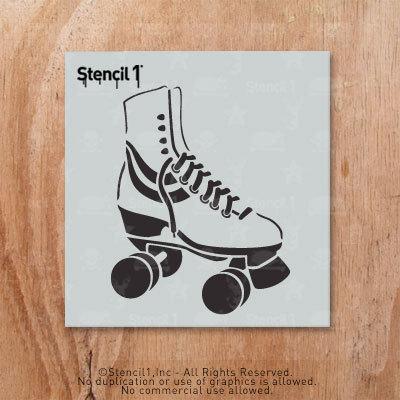 Roller Skate Stencil Reusable Craft Diy Stencils S1 2l 16 S Small 5 75 X6 By Stencil1