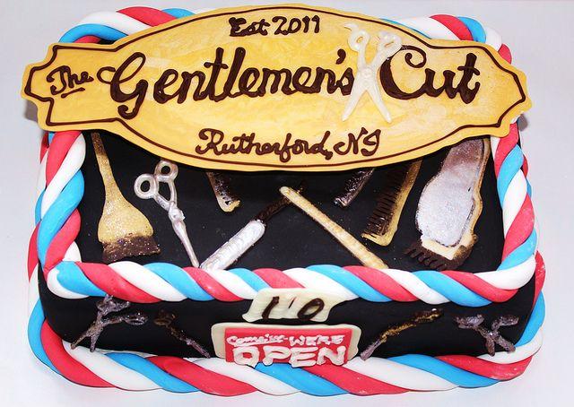 Men's hair salon cake