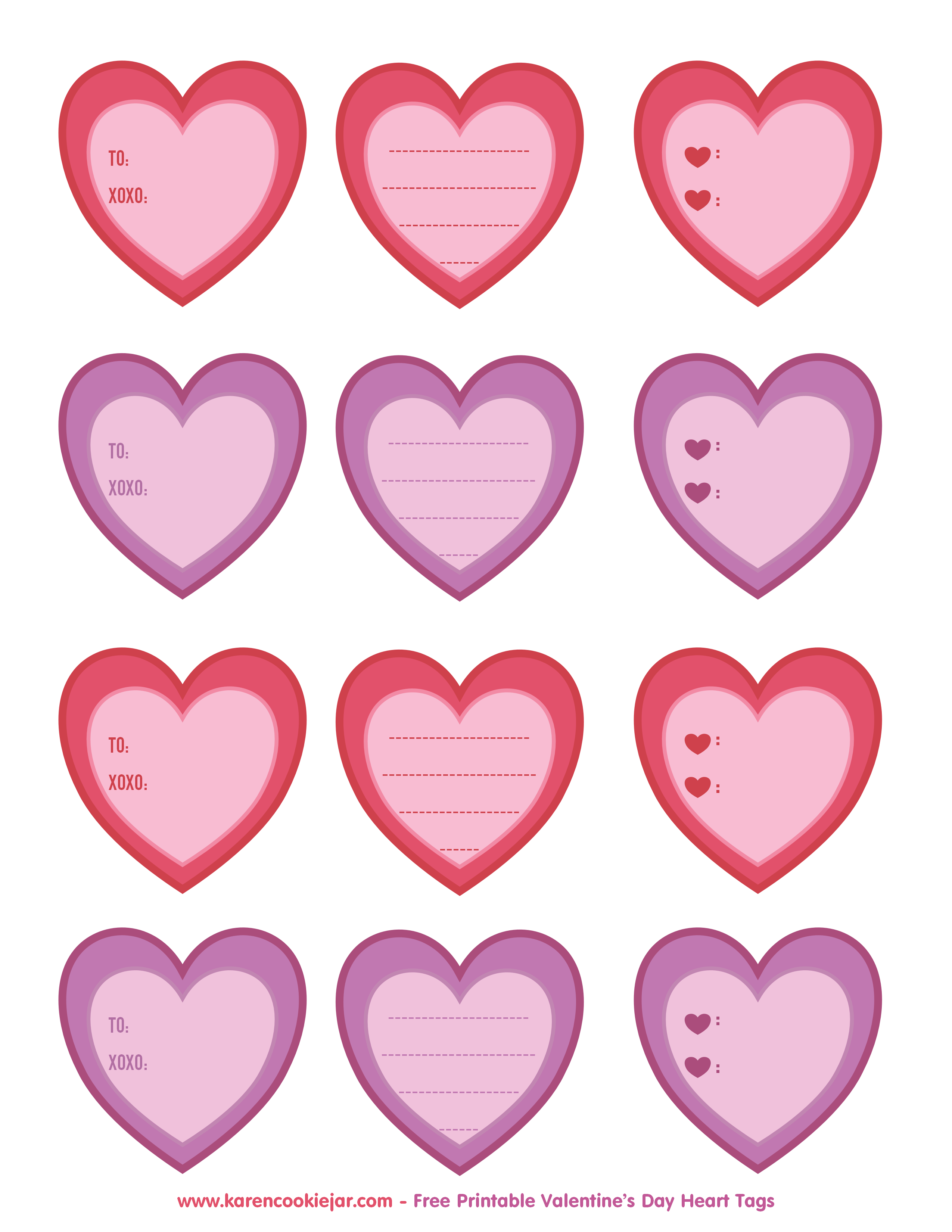 Heart Tags As Clipart