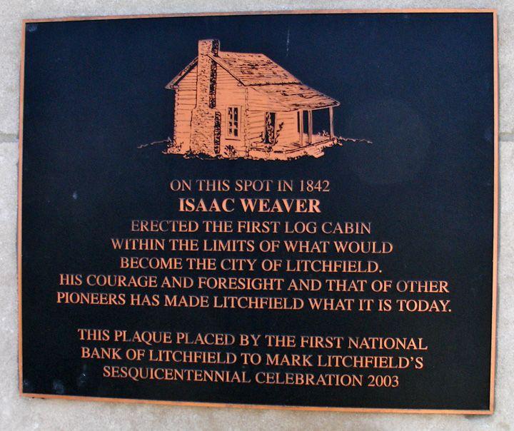 Log Cabin Marker Of Isaac Weaver, 1st