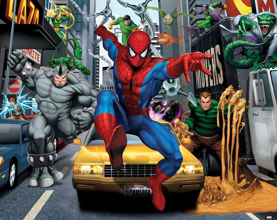 Walltastic Spider Sense Man Childrens Designer Wallpaper Stiker Dinding Lux 5 23pr
