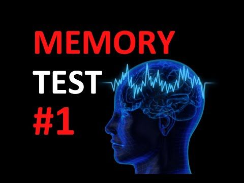 Quick Memory Test: How good is your memory? #1 - YouTube