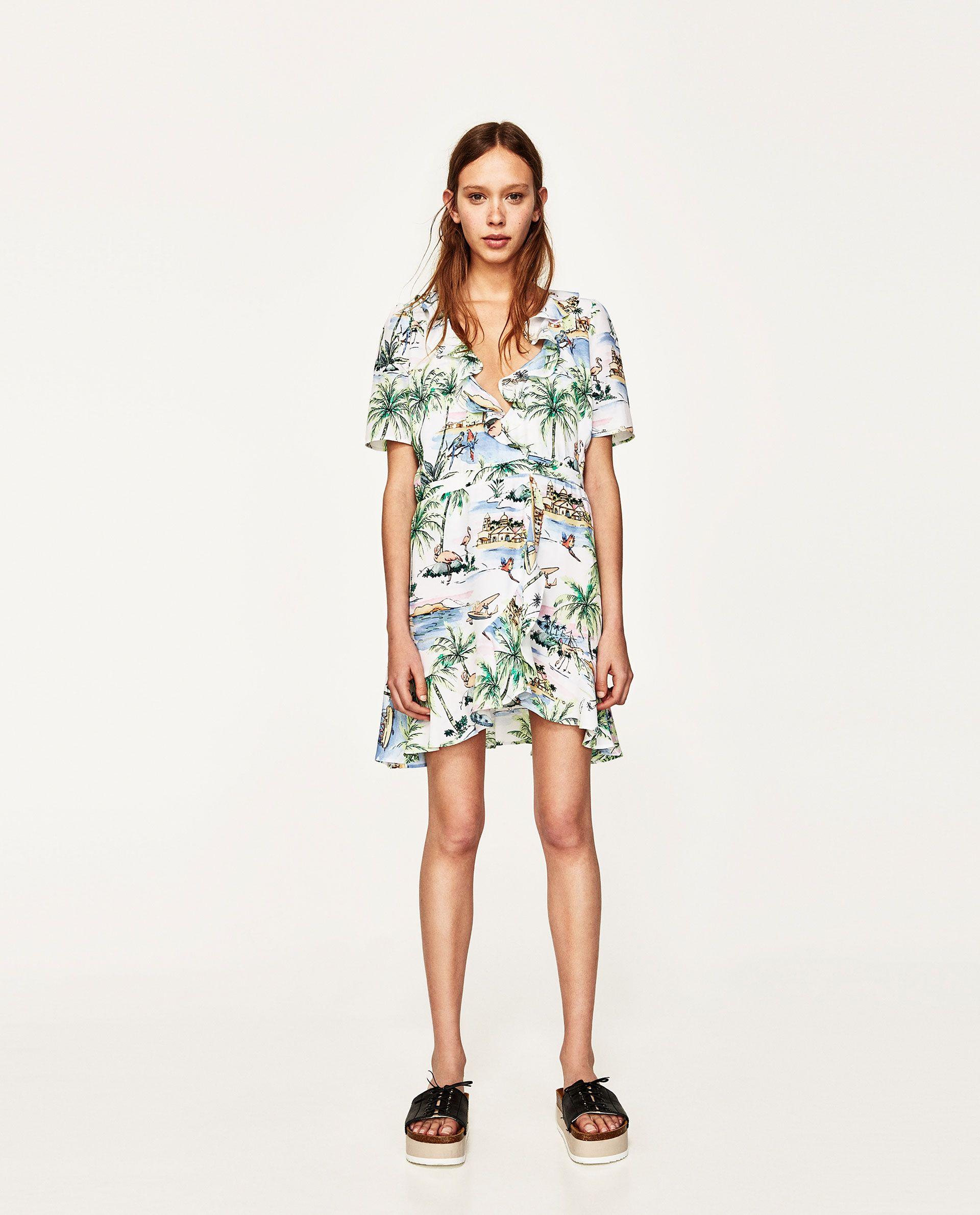 Vestido Corto Cruzado Wrap Dress Short Summer Wear For Women Zara Fashion