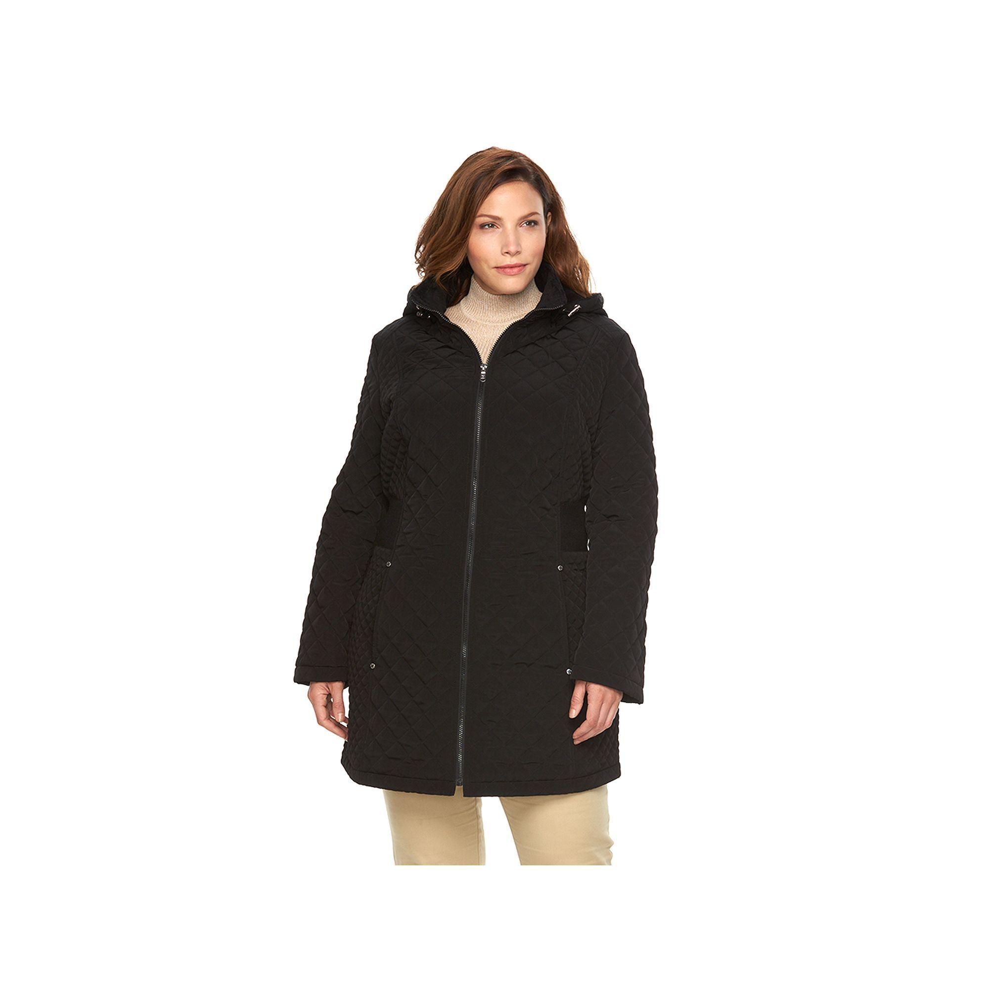 Braetan Plus Size Braetan Long Hooded Quilted Jacket