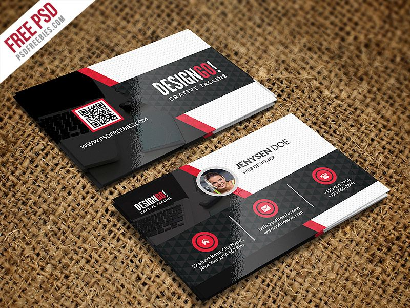 Creative and Modern Business Card Template PSD | Pinterest | Card ...