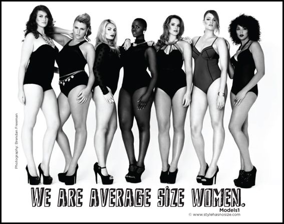 We are average size women! | Curves Celebrated | Pinterest ...