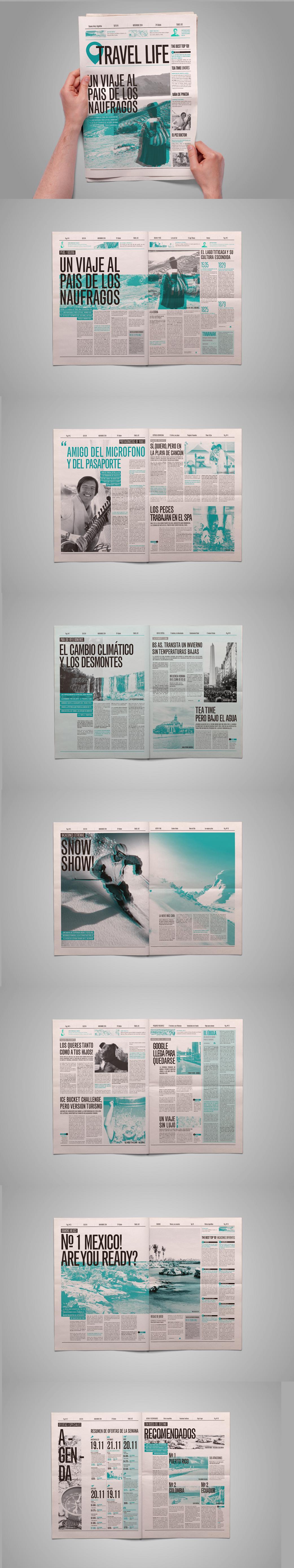 Dise o editorial diario on behance pinteres for Diseno editorial pdf